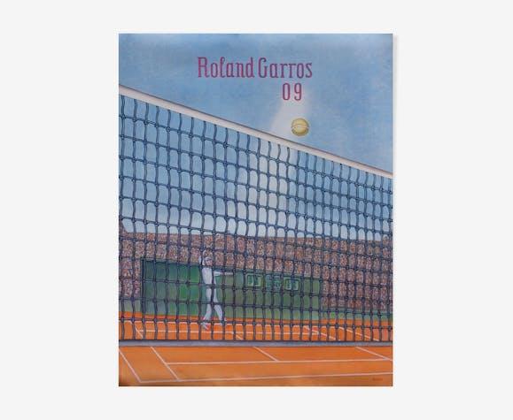 Affiche officielle Roland Garros 2009 par Konrad Klaphek
