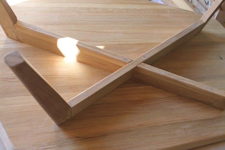 Table basse asymétrique en chêne