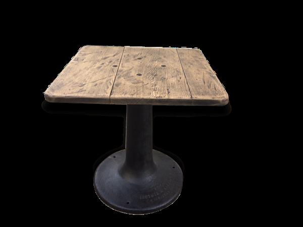 Table pied central métal