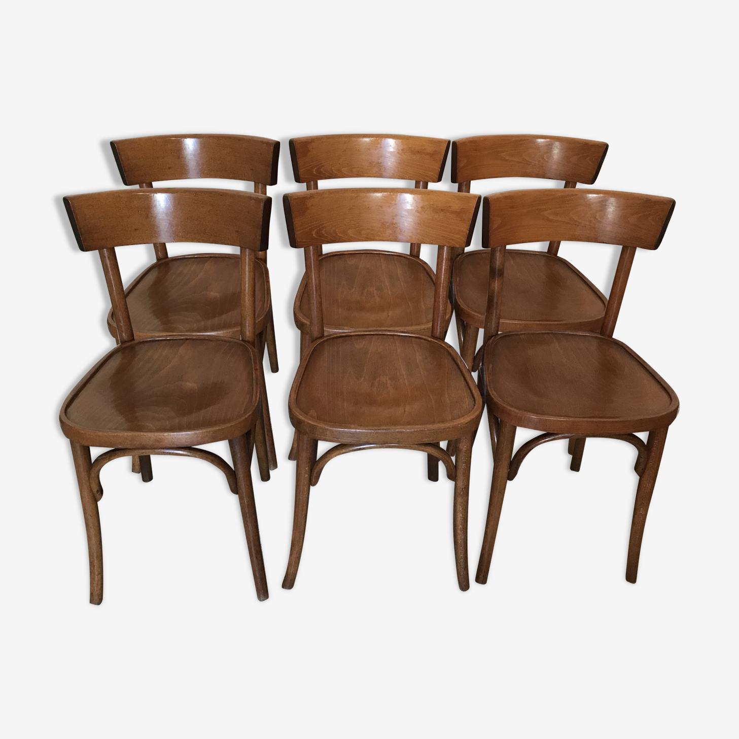 Série de six chaises bistrot vintage  1950's-60's