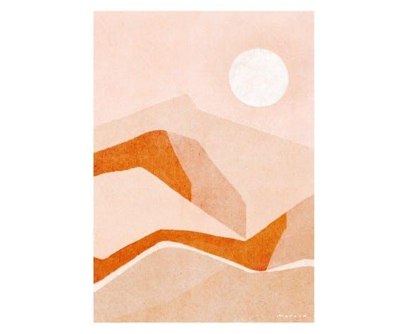 Impression d'art vue de désert