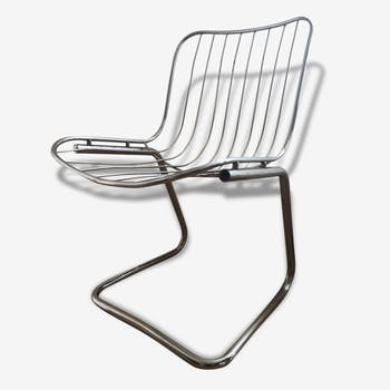 Chairs in chrome steel vintage (set of 4)