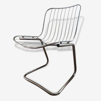 Chaises en acier chromé vintage (lot de 4)