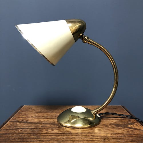 Vintage gold with creme bedside light from the 1960s