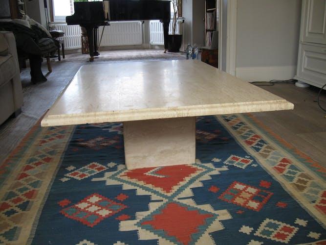 Vintage travertine coffee table