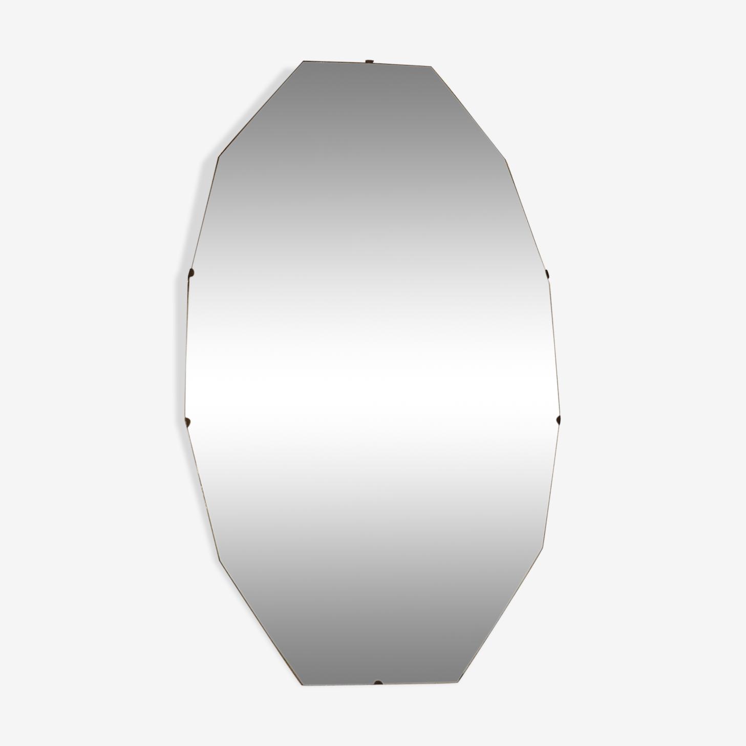 Miroir biseauté années 50 38x65cm