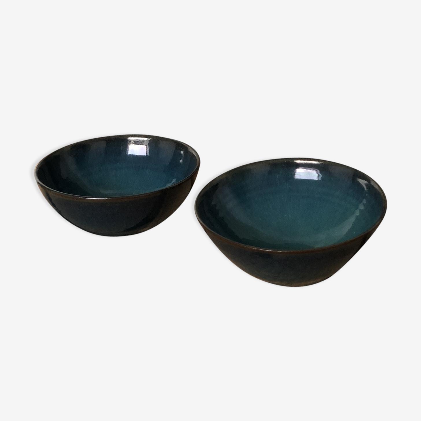 Duo aperitif cups Emmanuelle-blue sandstone