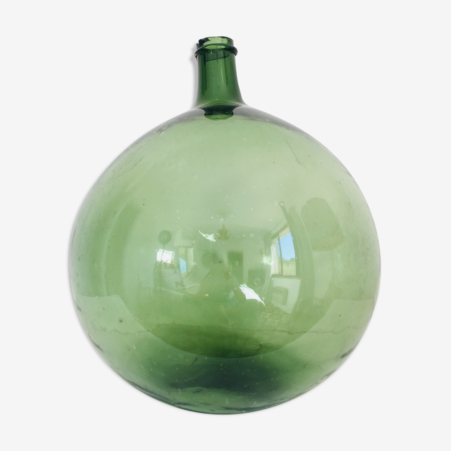25 litre demijohn green and round