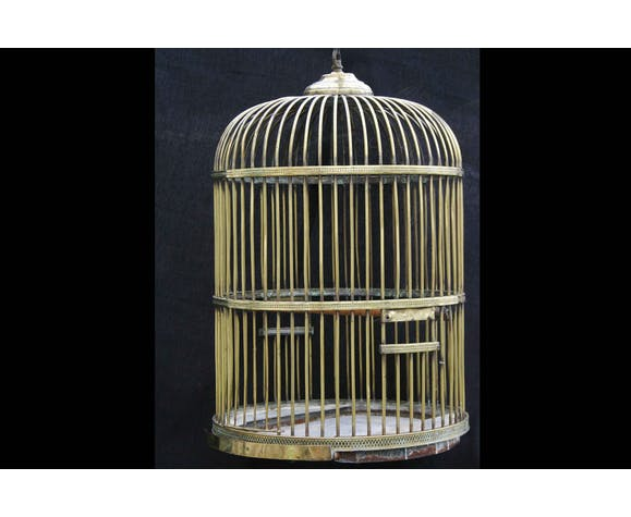 18th century brass Parrot cage