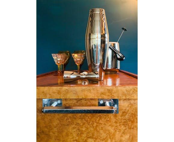 Art Deco drink cart, cocktail cart