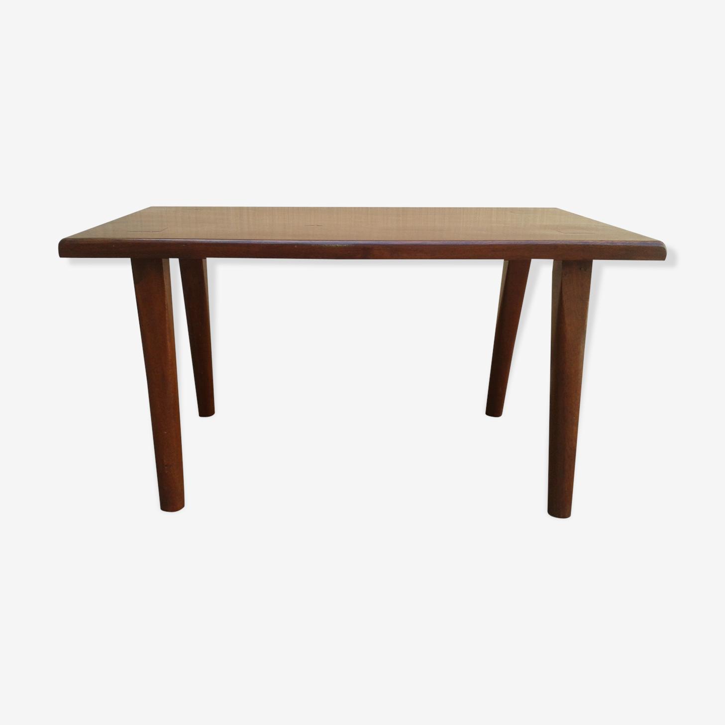Table basse rustique en acajou