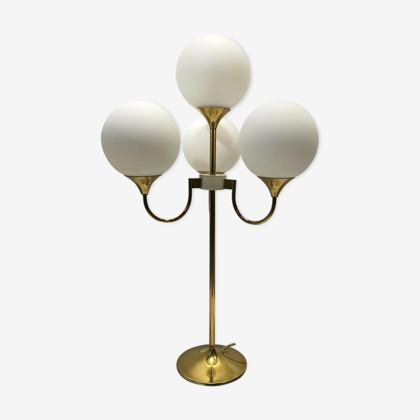 Lampe de table laiton années 70