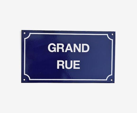 """Plaque émaillée """"grand rue"""""""