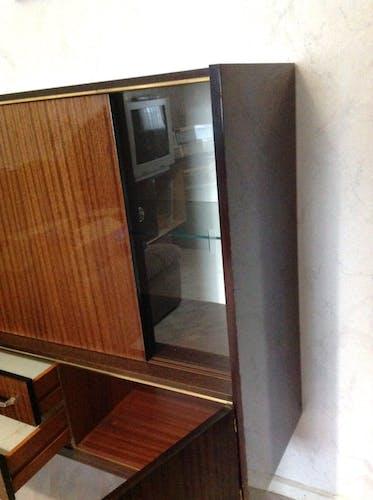Meuble avec vitrine vintage années 60/70
