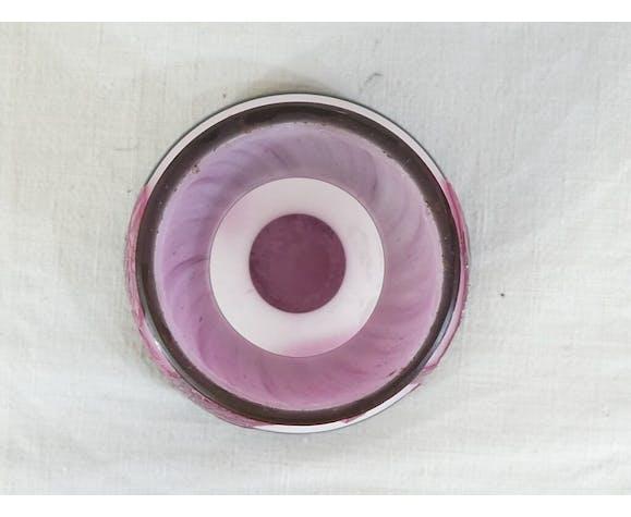 Vase ou pied de lampe Delatte Nancy en pate de verre 15 cm art nouveau