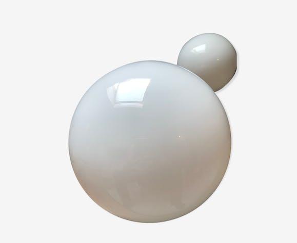 Globe de lustre opaline 1950/1970
