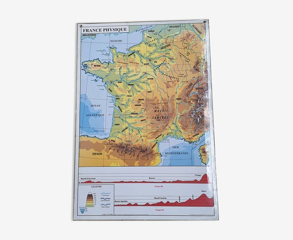 Map of France physical and administrative - paper ...