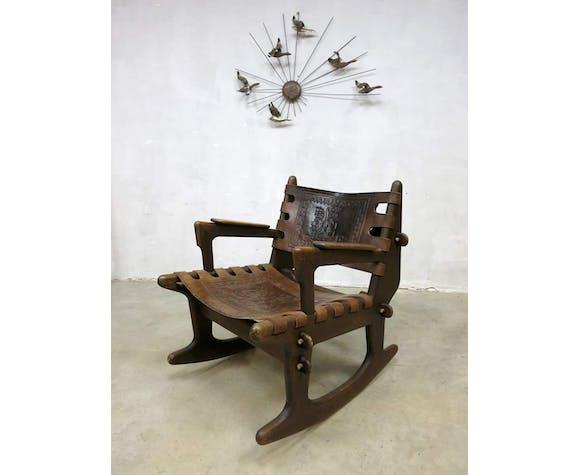 Fauteuil à bascule Equateur vintage design Angel Pazmino