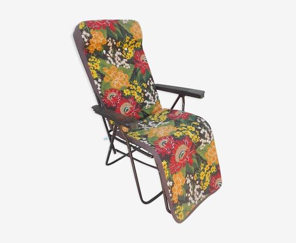 Transat relax de jardin vintage années 70 - métal ...