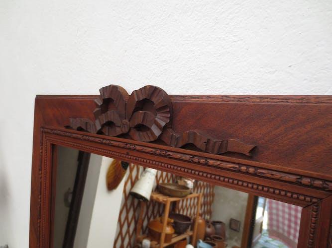 Old rectangular walnut mirror 55x45cm
