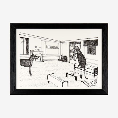 Intérieur haussmannien n°1 – risographie A4