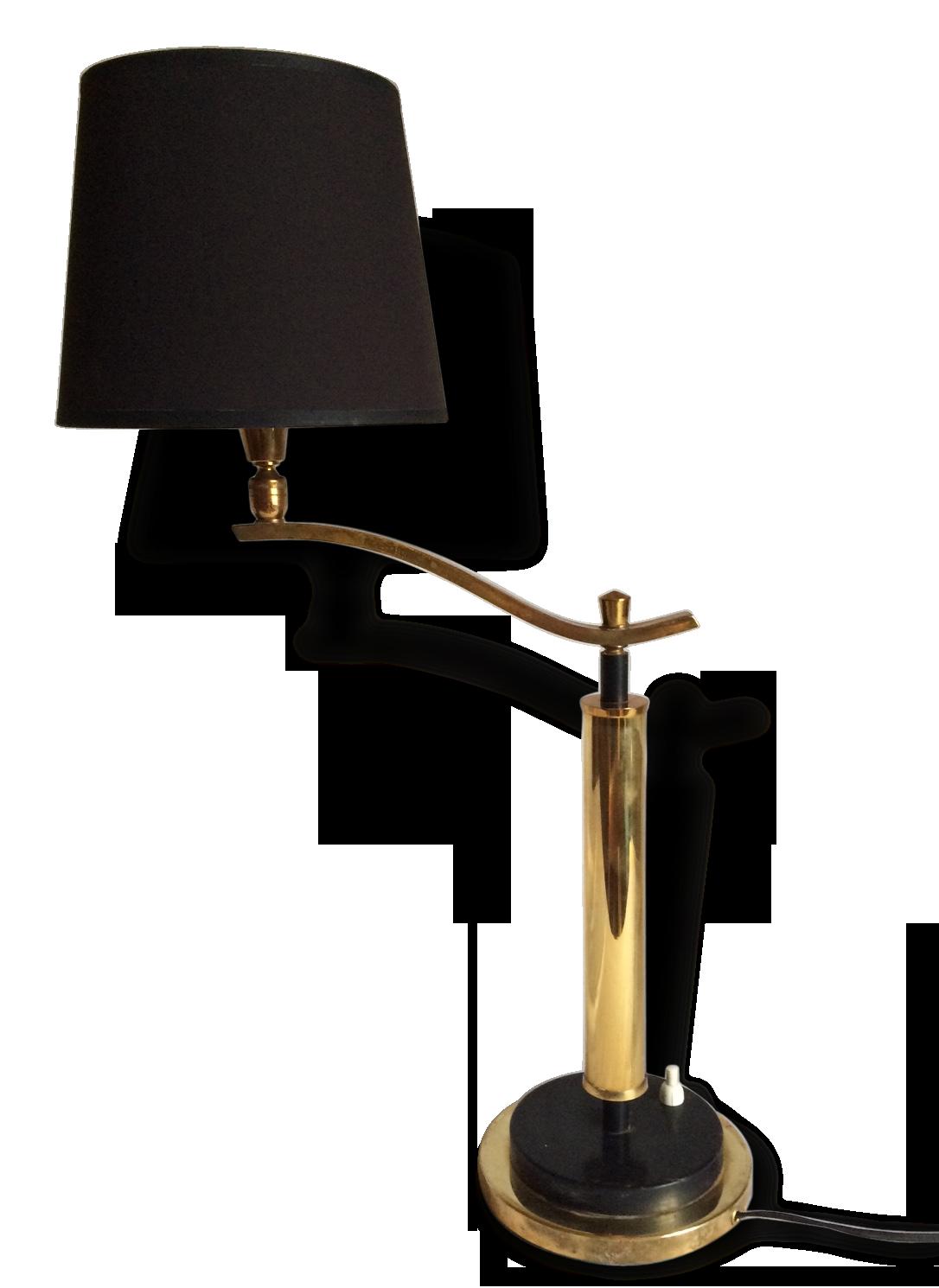 Lampe bureau laiton vintage  laiton doré
