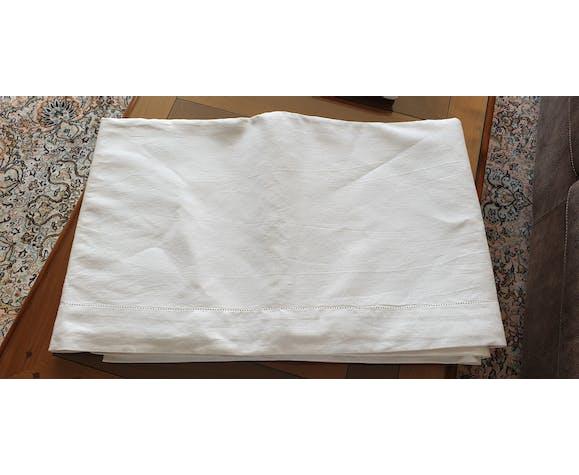 Lot de 3 draps de lit anciens véritable toile du nord  début du xxe siècle - france  neuf