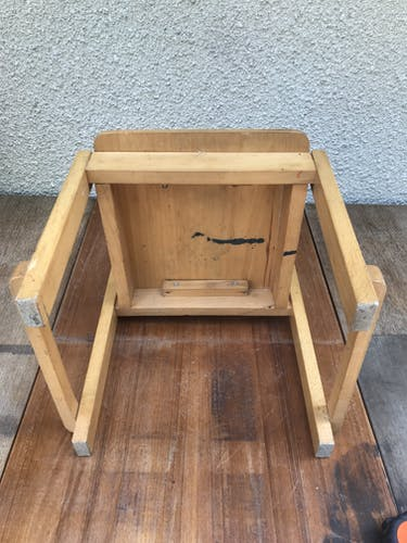 Old vintage wood child chair