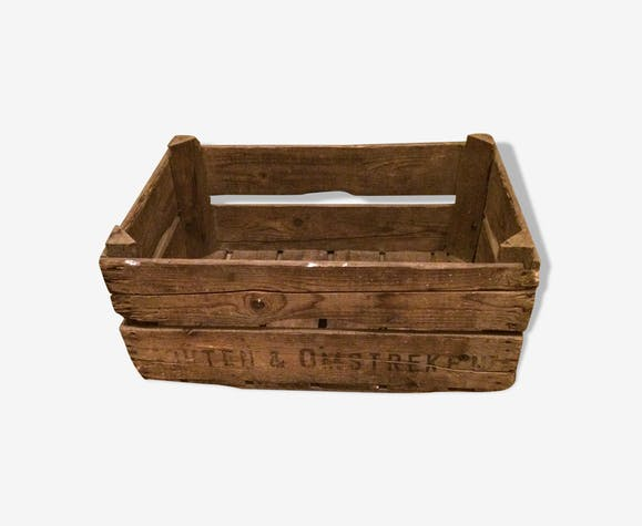 Caisse de rangement en bois ancienne