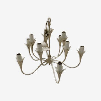 Old 10 branched chandelier