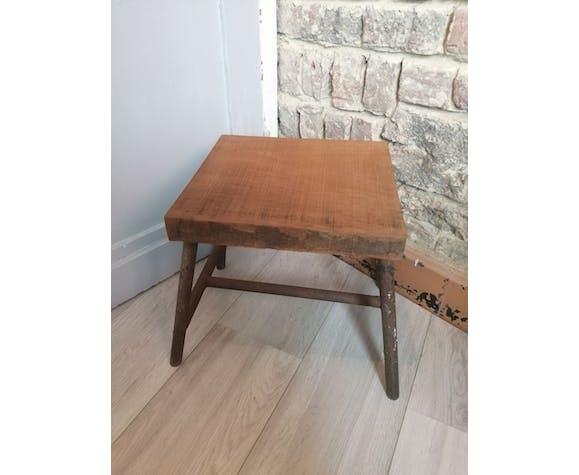 Ancien tabouret bois métal