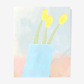 Naive Oil Tulips — 40 x50 cm