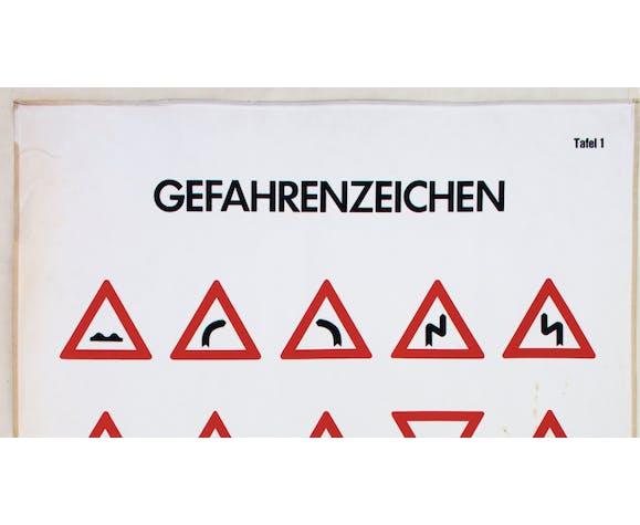 Signs of danger, school wall chart, 1968