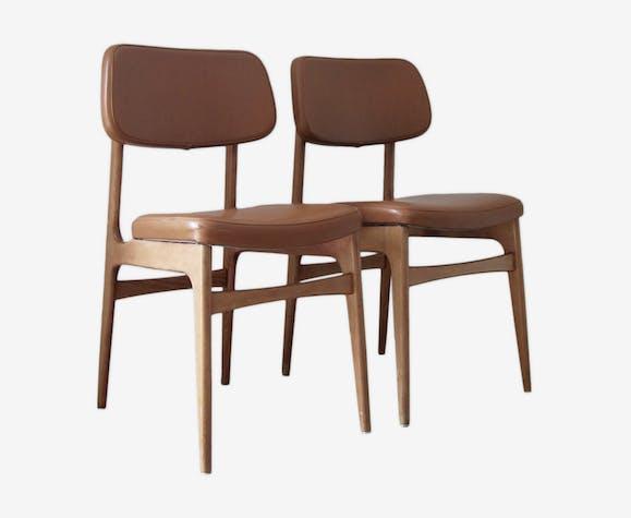 Chaises simili et bois style scandinave