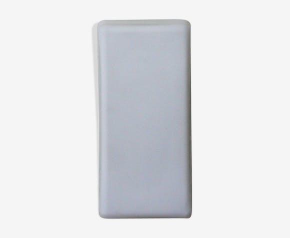 Applique plafonnier verre opaline blanche mat rectangulaire