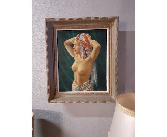 Portrait mauresque aux seins nus