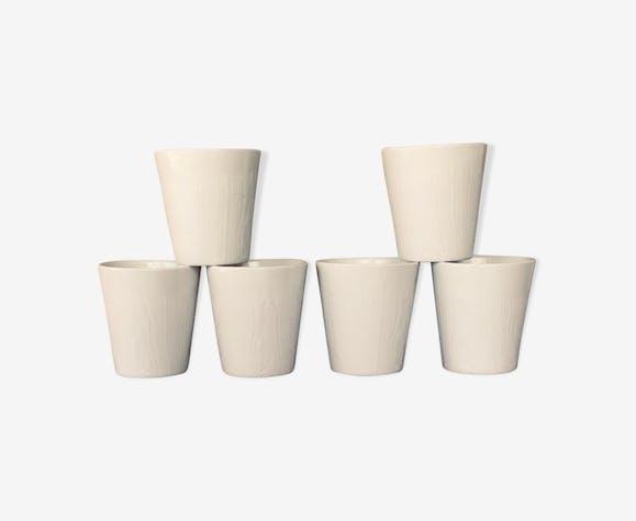 6 verres signés Revol-Porcelaine