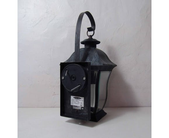 Lanterne électrique murale en zinc