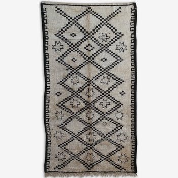 Tapis beni ourain marocain 100%laine, 370x200