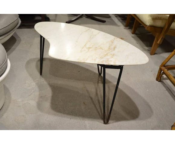 Coffee table marble 60s