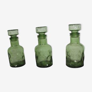 Lot 3 carafes en verre