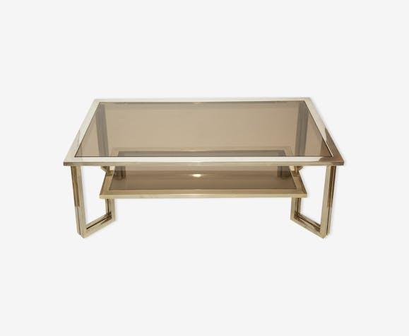 table basse verre roche bobois 1970s