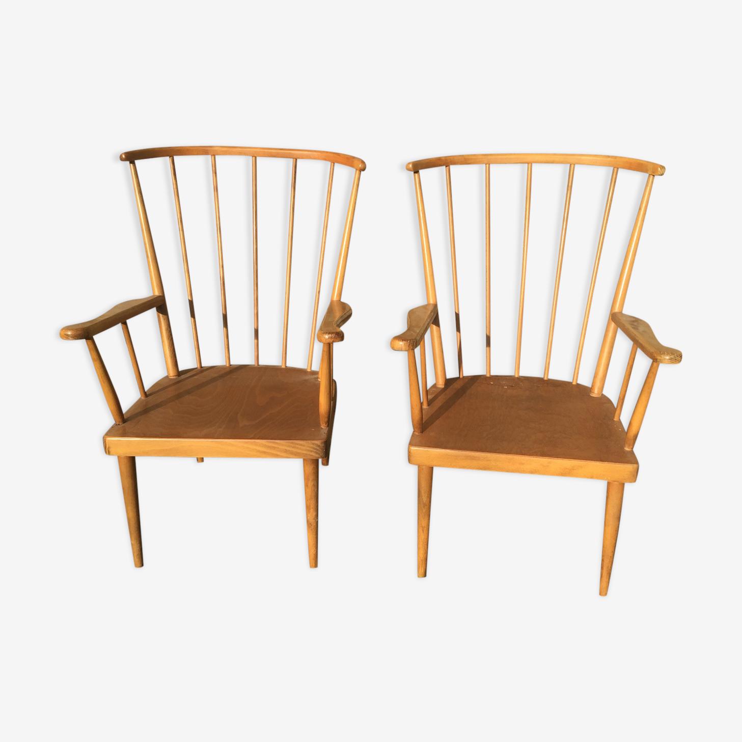 Baumann armchairs
