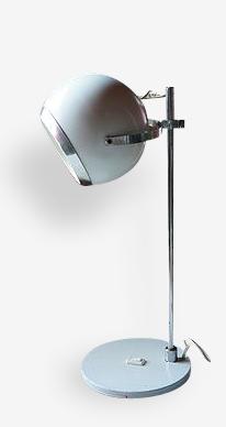 Lampe de bureau boule vintage blanche