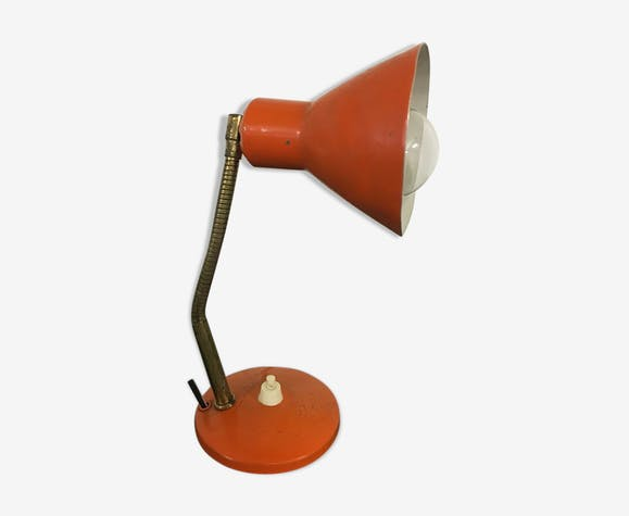 """Lampe aluminor nice orange vintage """" 0030"""""""