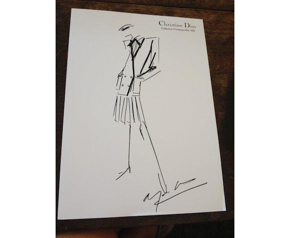 Illustration de mode de presse Christian Dior  collection printemps-été 1980