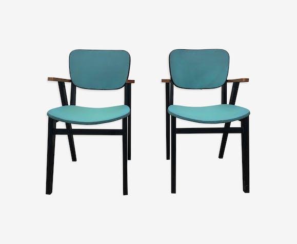Duo de fauteuils vintage année 50