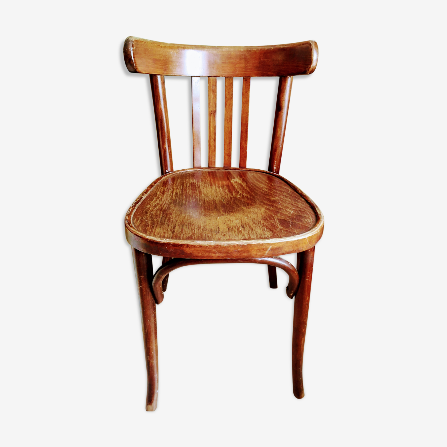 Chaise bistrot en bois courbé
