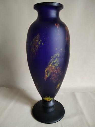 Vase bleu Schneider