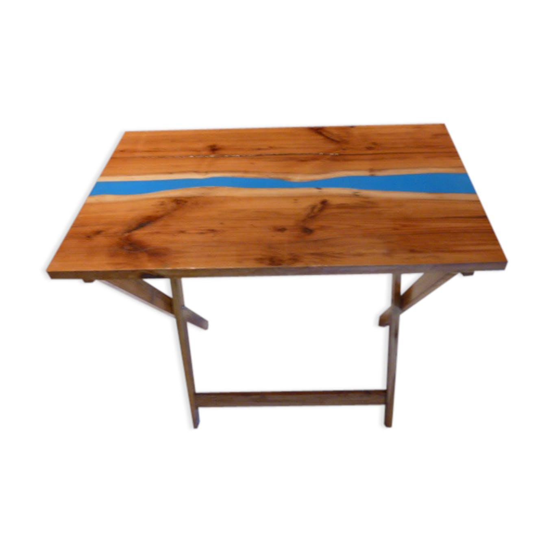 Table Dappoint Pliante Bois D If Résine Bois Matériau Bois